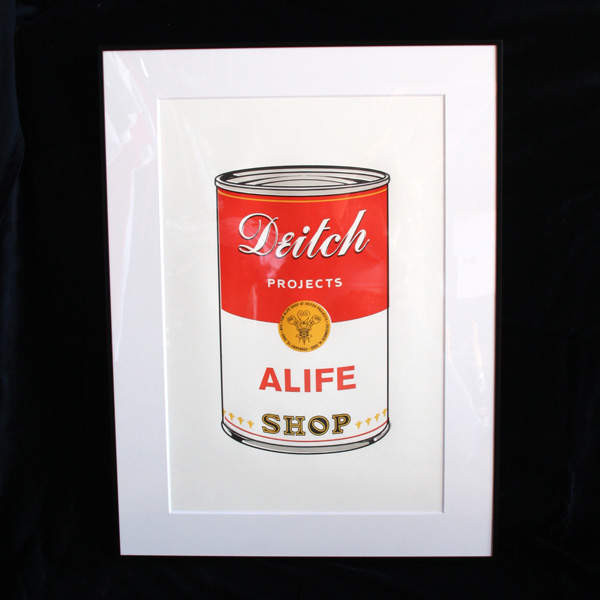 ALIFE Deitch PROJECTS Andy Warhol Campbell's Soup INSPIRED シルクスクリーン アート 限定 通販